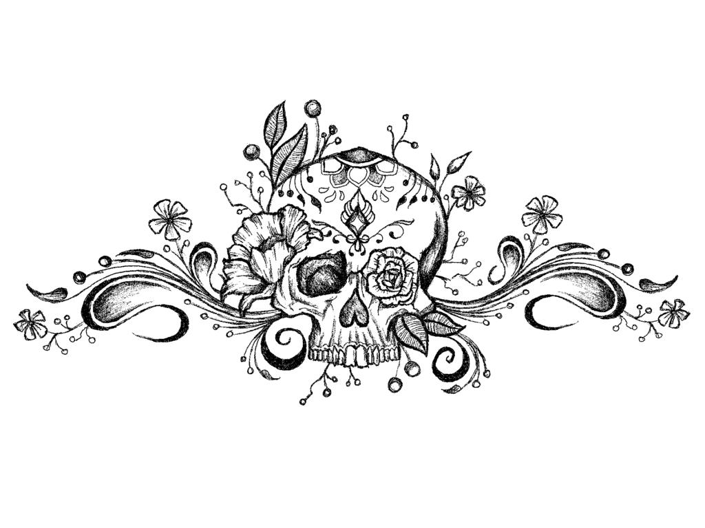 Henna Horror Skull